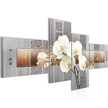Amazon.de: Runa Art Bilder Blumen Orchidee Wandbild Vlies - Leinwand ...