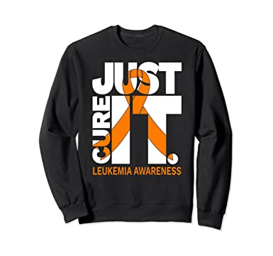 0be44678 Amazon Com Just Cure Leukemia Awareness Shirts Ribbon Sweatshirt