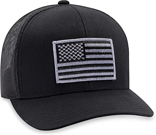 US Army Seal Patriotic USA Flag Black Embroidered Cap Hat Licensed CAP601G TOPW