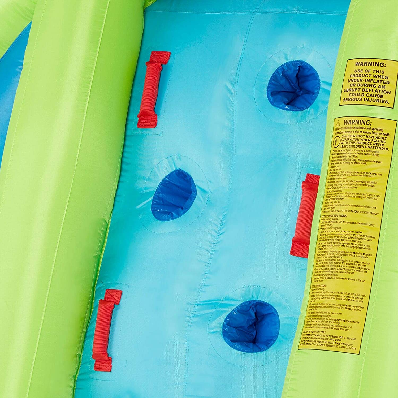 Kahuna Mega Blast Inflatable Backyard Kiddie Pool and Slide Water Park