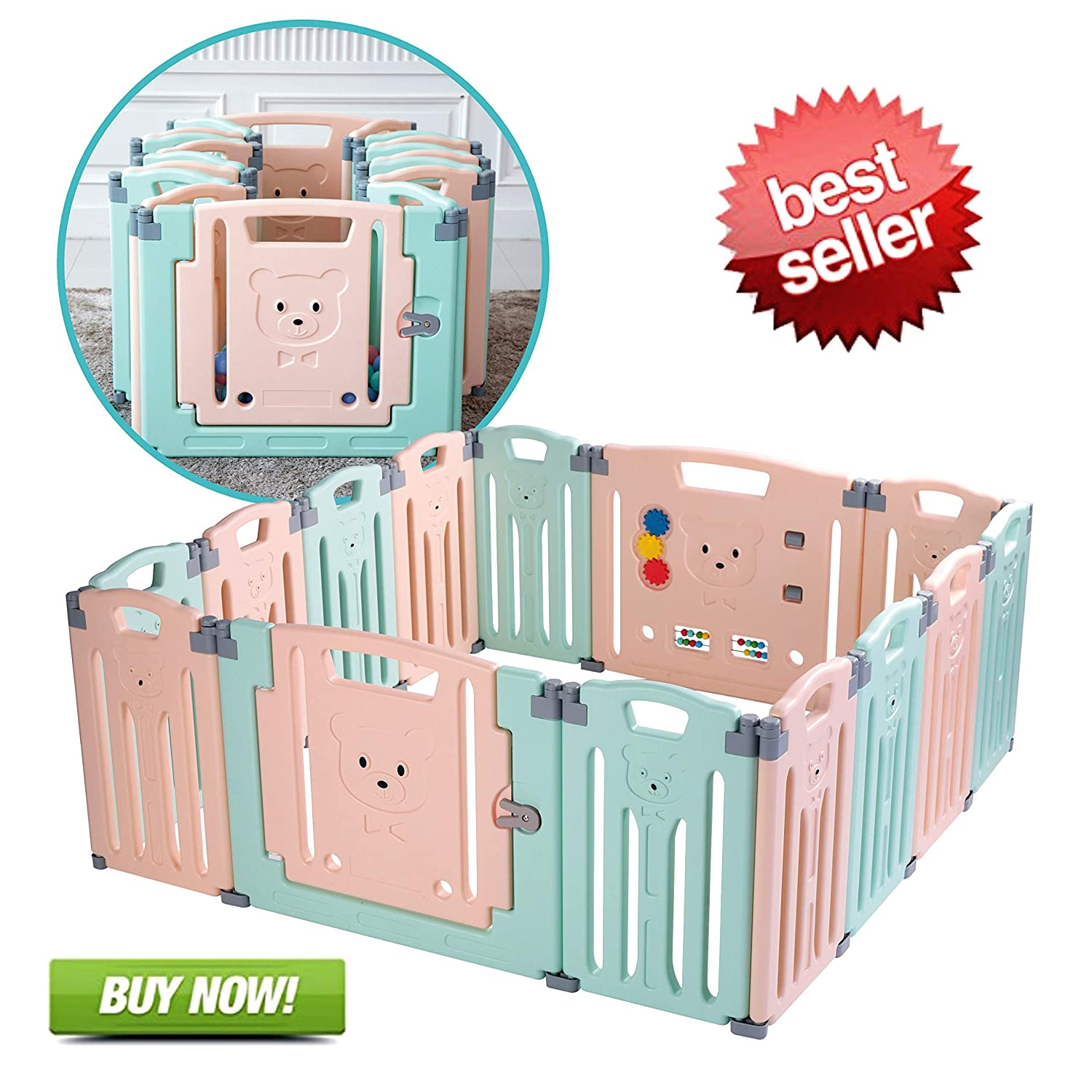 Baby Folding playpen Baby Playpen Kids Activity Centre Safety Play Yard Home Indoor Outdoor New Pen