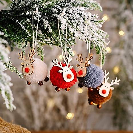 Adorno Para árbol De Navidad Para Colgar Fieltro Oveja árbol De Navidad Adornos De Navidad De Ovejas Figuras Decorativas Hecho A Mano Fieltro De Juguete De Lana 4 Piezas Kitchen