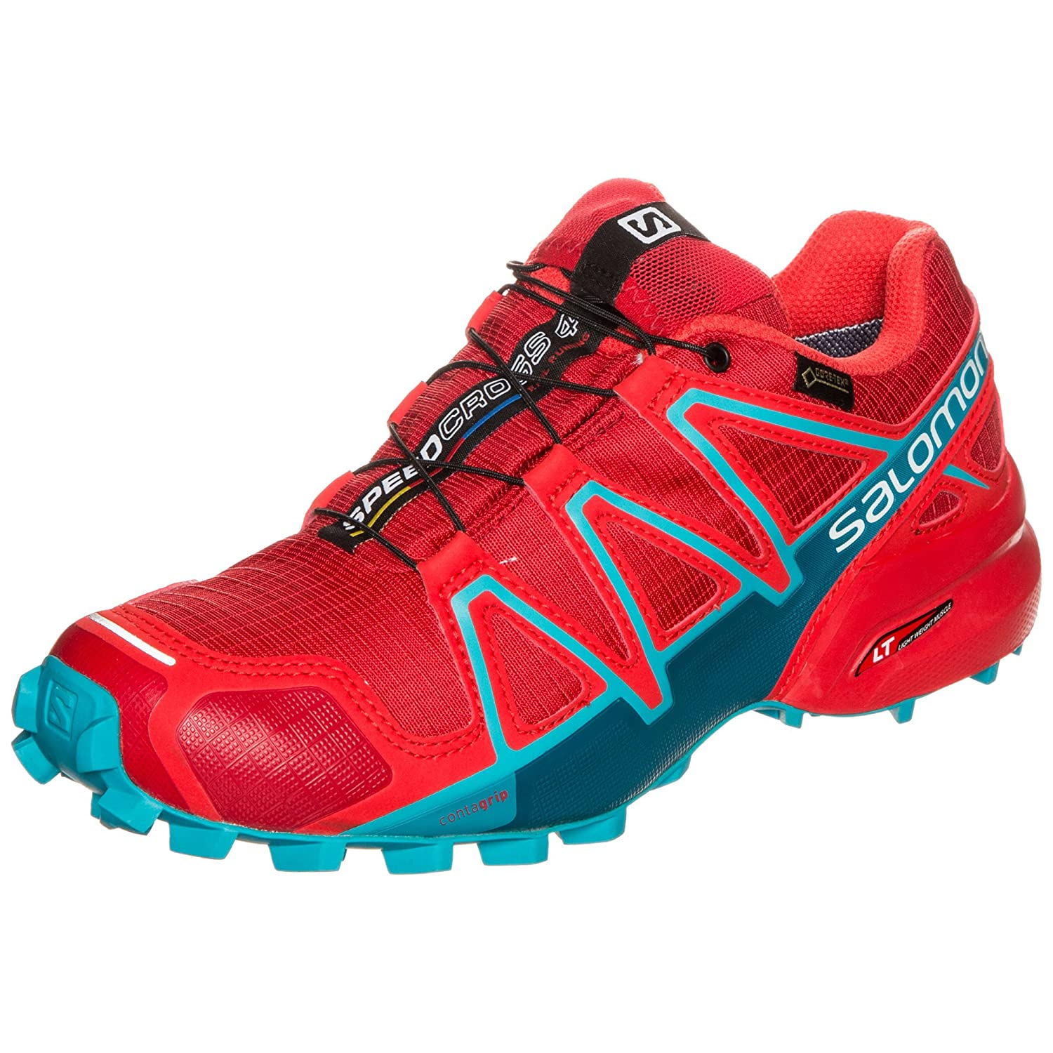 Salomon Speedcross 4 Gtx W, Zapatillas de Running Mujer, Rojo (Barbados Cherry/Poppy Red/Deep Lago), 42 2/3 EU: Amazon.es: Zapatos y complementos