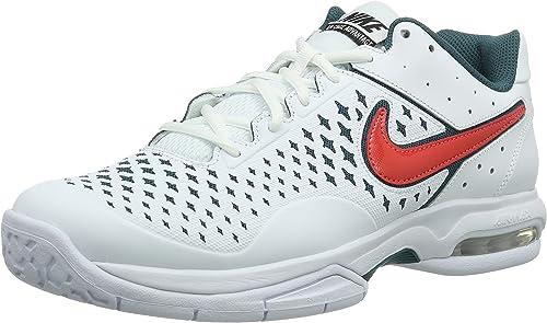 Nike Air Cage Advantage, Baskets de Tennis Homme Blanc