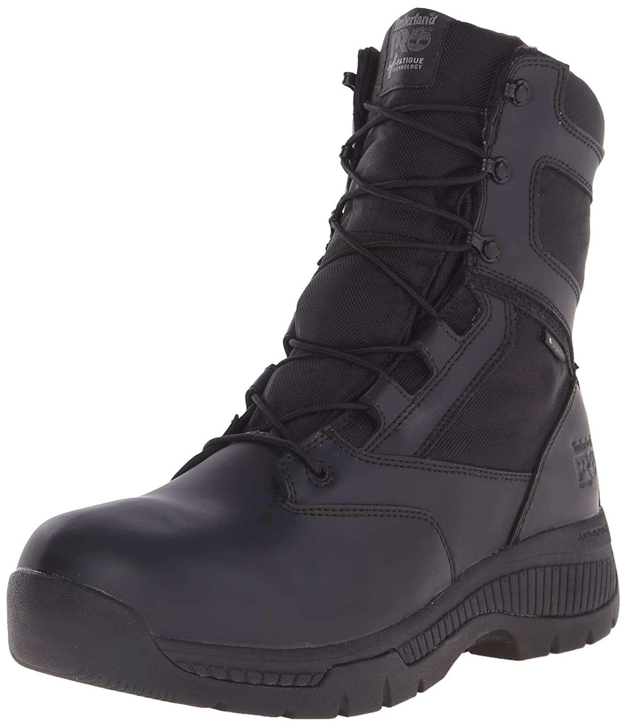 Timberland PRO メンズ B00RKM7AF4 12 D(M) US|Black Smooth Leather Ballistic Nylon Black Smooth Leather Ballistic Nylon 12 D(M) US