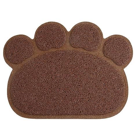 Amazon.com: petcee Aserrín para gatos Mat Pet Paw Forma PVC ...