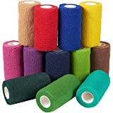 Self Adhesive Bandage Wrap, Cohesive Tape (4 in. x 5 yd., 12 Pack)
