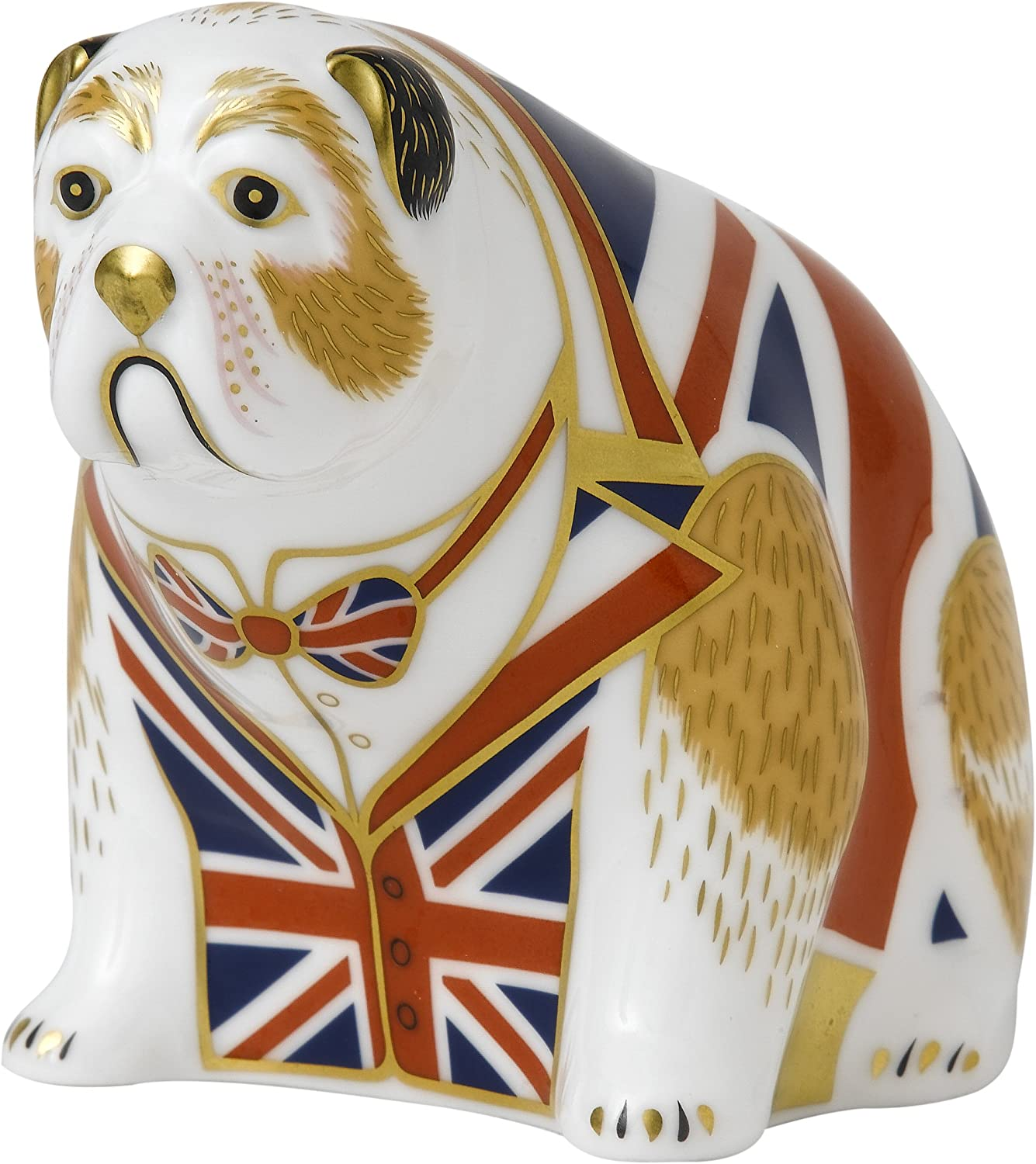 Royal Crown Derby Union Jack Bulldog Paperweight