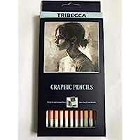 Tribecca 12Pcs Drawing Shading Sketch Pencil Set Professional Technical Pencils For Artists
