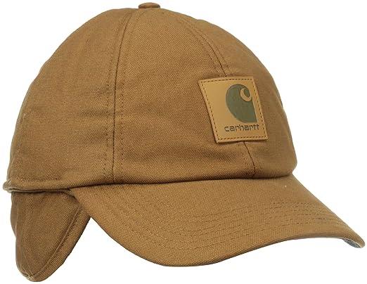 263be802ef6 Carhartt Men s Workflex Ear Flap Cap Black  Amazon.co.uk  Clothing