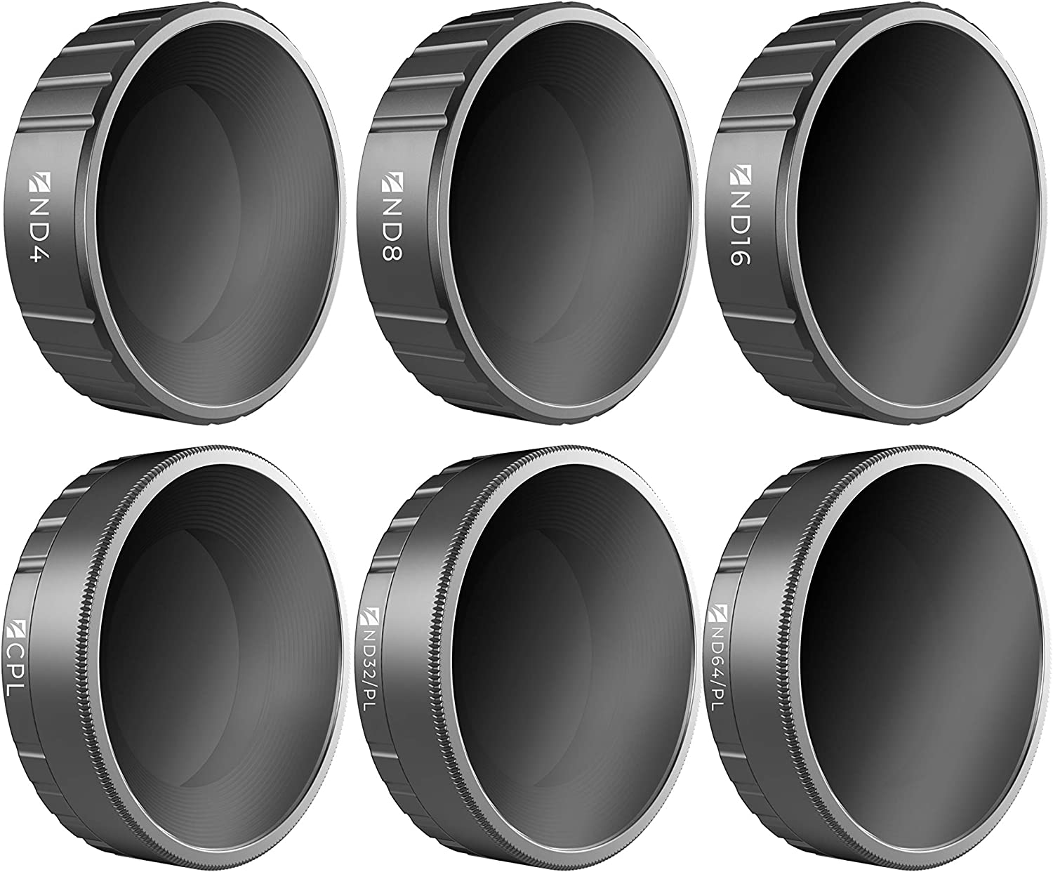 ND32//PL CPL ND16 6Pack ND4 E Series Freewell Budget Kit ND8 ND64//PL Camera Lens Filters Compatible with DJI Osmo Action Camera