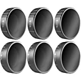Freewell Budget Kit –E Series - 6Pack ND4, ND8, ND16, CPL, ND32/PL, ND64/PL Camera Lens Filters Compatible with DJI Osmo…