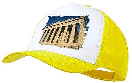 MERCHANDMANIA Gorra Amarilla PARTENON Antigua Grecia Color Cap ...
