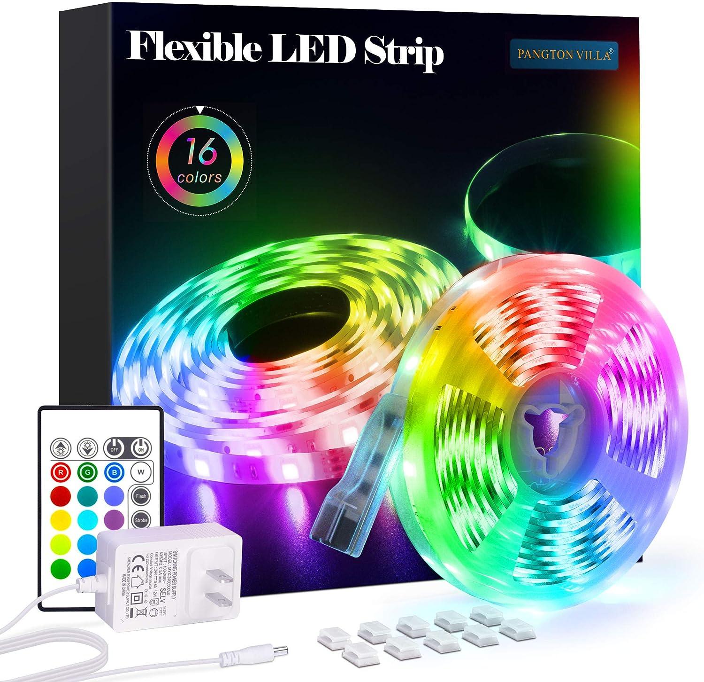 PANGTON VILLA 16.4 ft RGB 5050 Led Strip Lights $11.89 Coupon