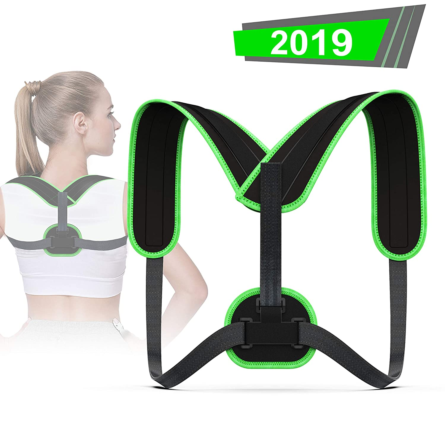 Upper Back Brace for Clavicle Support and Protecting Pain from Neck VALOIN Adjustable Back Straightener-Best Back Posture Corrector for Men and Women Back /& Shoulder ,006