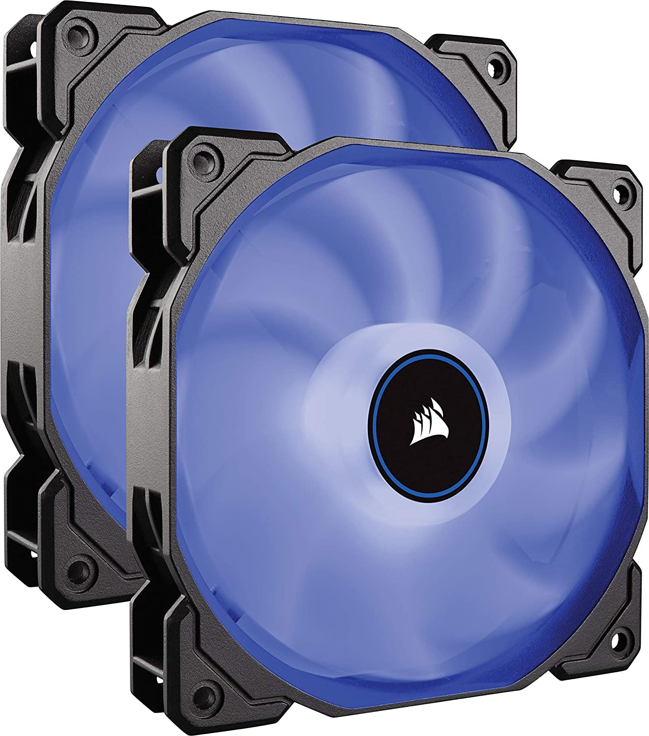 Corsair Air Series LED Quiet Edition High Airflow Ventilador LED Azul 2 x 140 mm Fan (Double Pack)