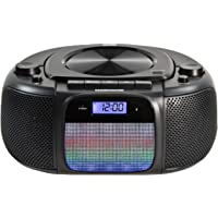 MAGNAVOX MD6972 Portable Top Loading CD Boombox with Digital AM/FM Stereo Radio, Color Changing Lights, and Bluetooth…