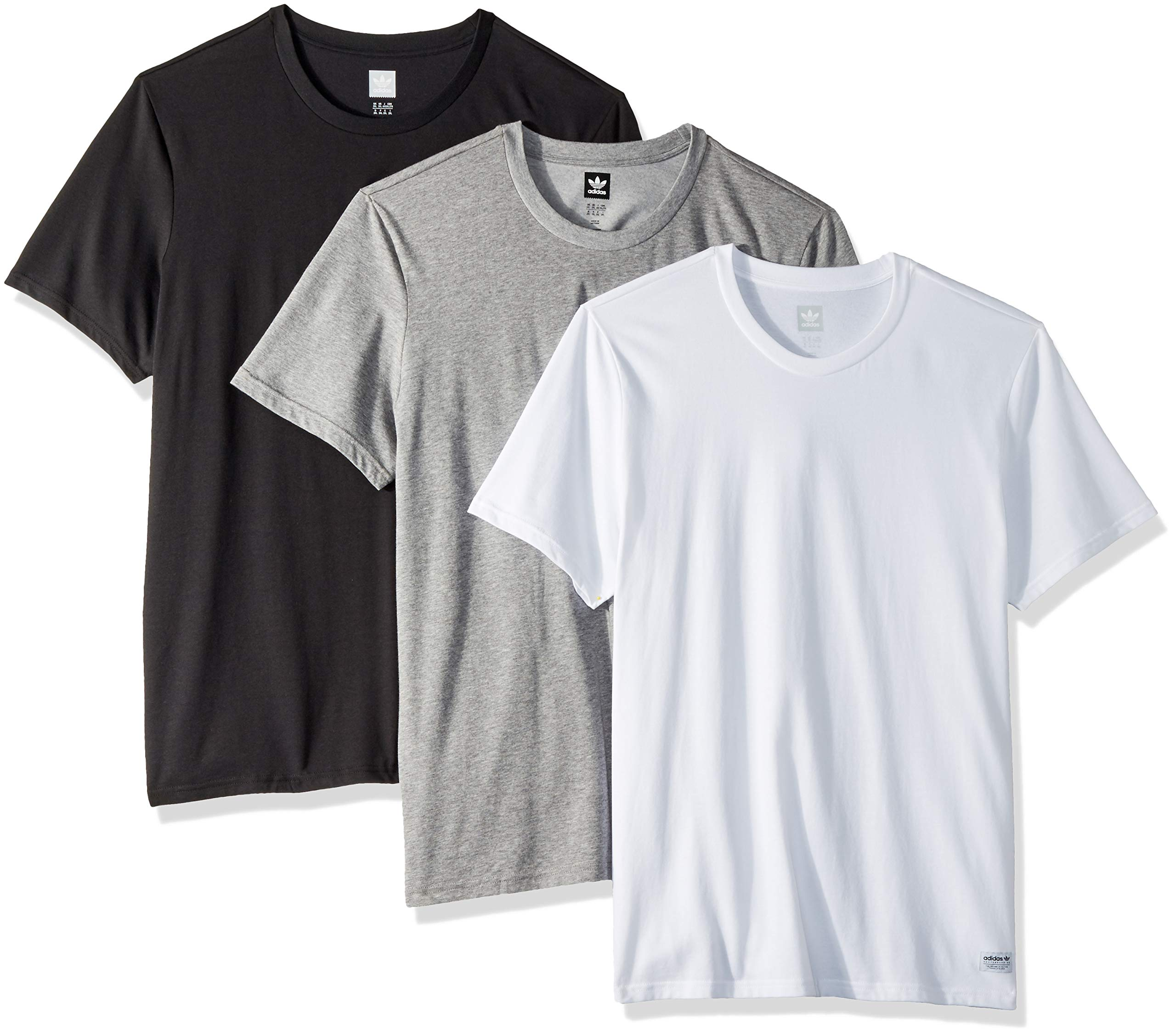 adidas Originals Men's 3 Pack Tees, Heather/White/Black XX-Large by adidas Originals (Image #1)