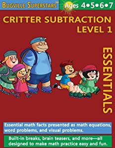 Math Superstars Subtraction Level 1 (Essential Math Facts for Ages 4 to 7) (Bugville Learning Adventures)