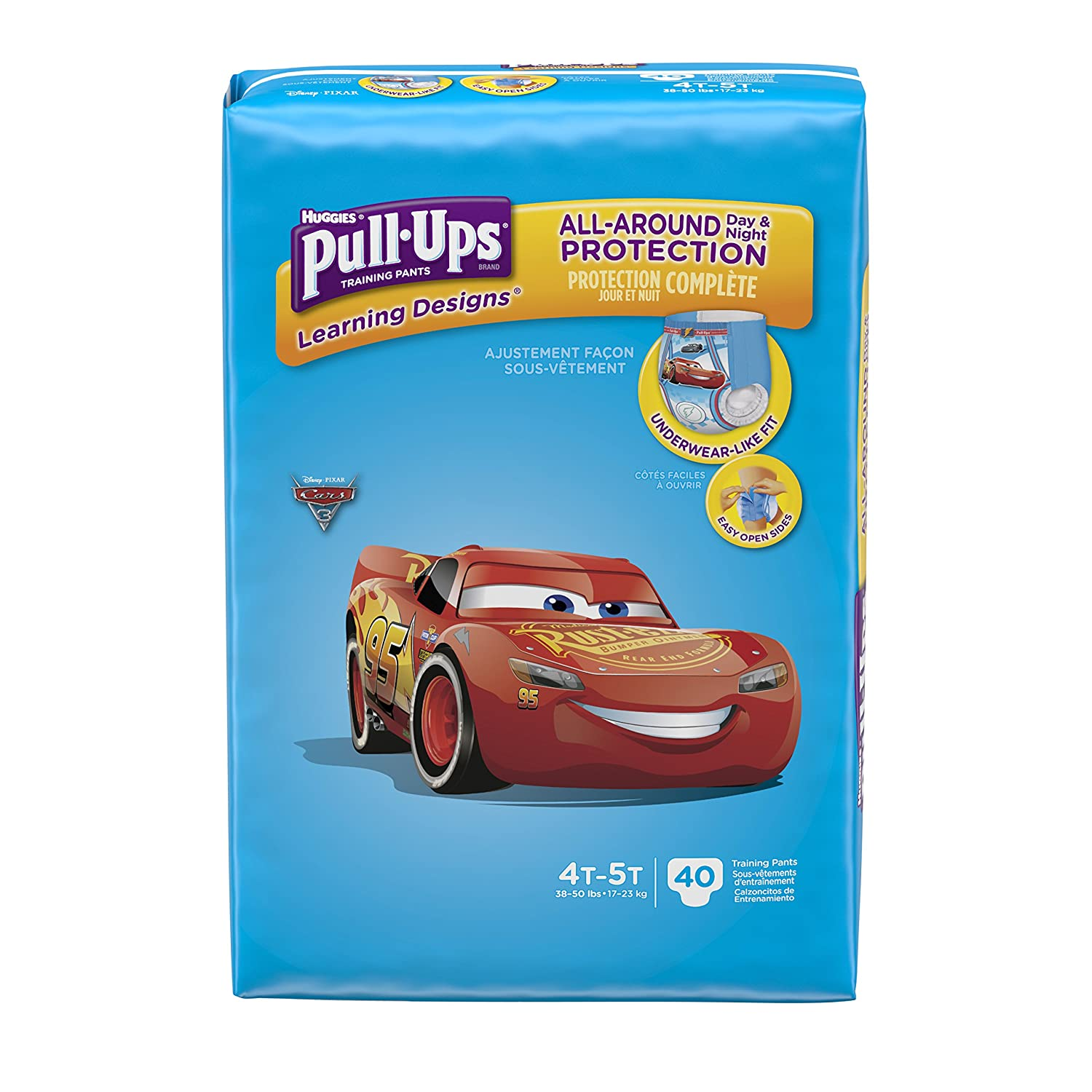 Pull-Ups Learning Designs Training Pants for Boys, 4T-5T, 40 Count (Packaging May Vary) Kimberly-Clark Corp. 10036000451518