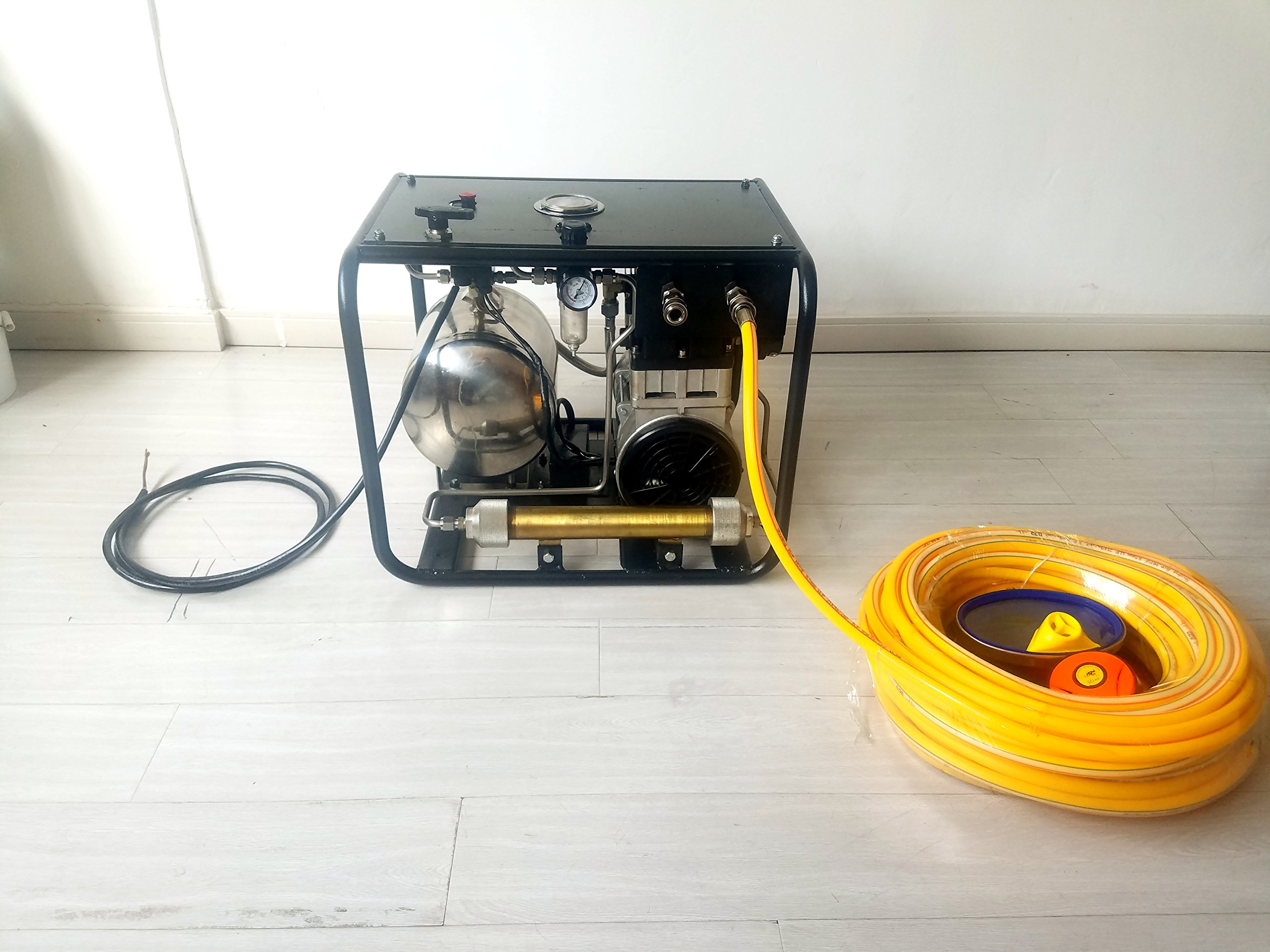 D Machinery Oil-free Hookah Dive System Third Lung Serface, 110V Electronic Compressor with 15m / 50 ft Hose & Regulator/Respirator, SCU80E (1100W) by D Machinery (Image #4)
