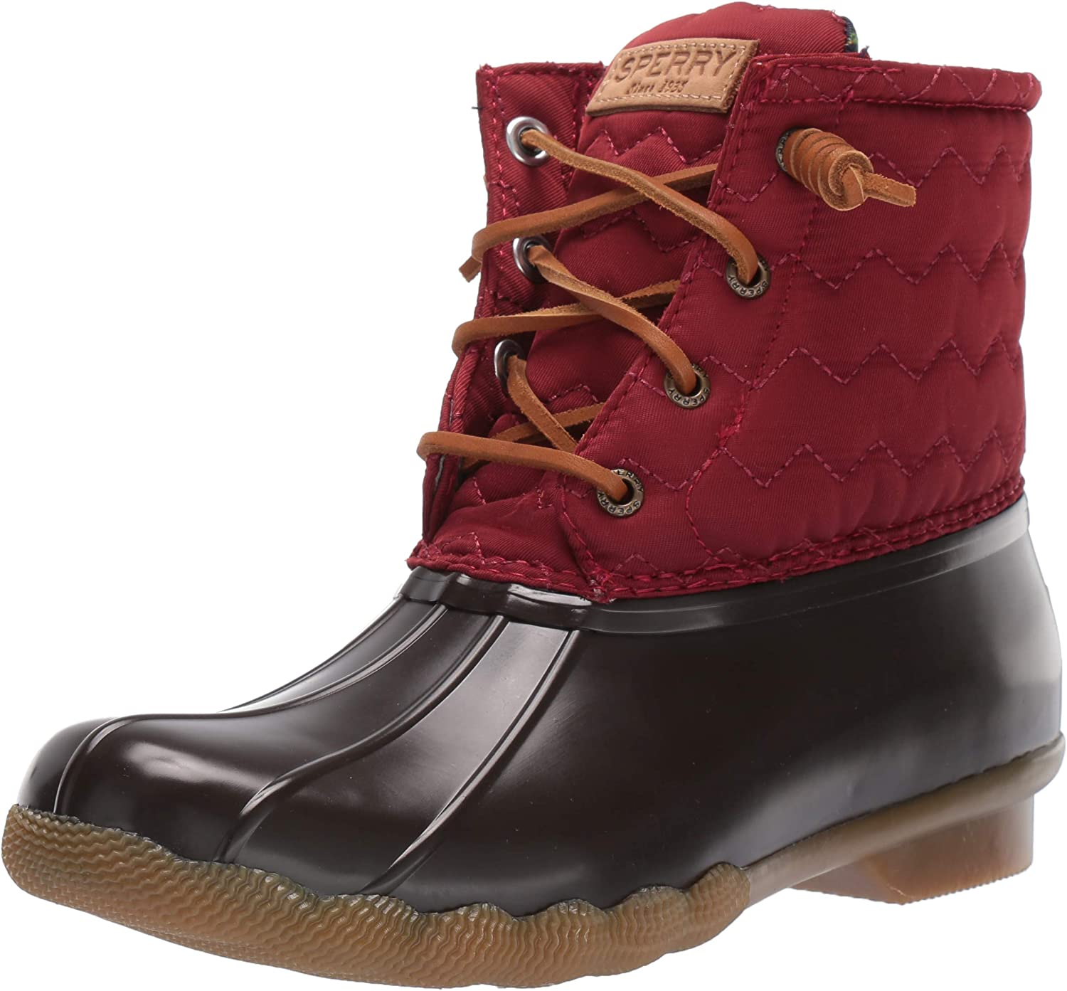 Sperry Women's Saltwater Chevron Quilt Nylon Boots