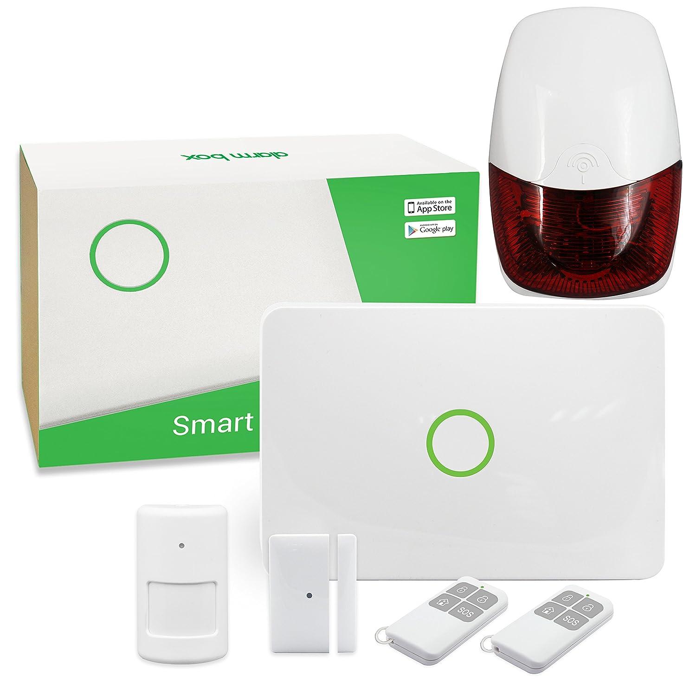 Beatease S1 868MHz Funk-Alarmanlagen GSM Haus Alarmanlage Set/Fenster Tür-Sensor/Außen-Alarmsirene/Funk-PIR-Detektor/Fernbedienung mit iOS / Android