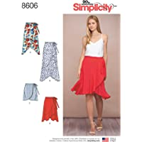 Simplicity Women's Ruffle Wrap Skirt Sewing Patterns, Sizes 6-14