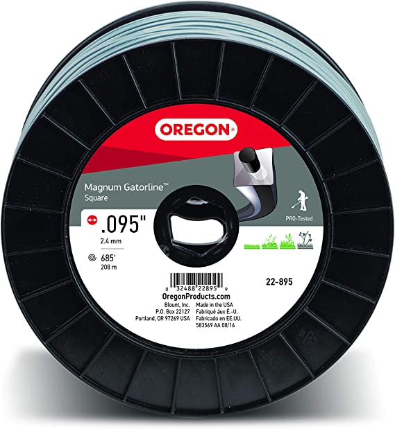 Oregon 22-895 Magnum Gatorline .095-Inch by 685-Foot Square Trimmer Line - Best Powered Trimming Line for Cutting
