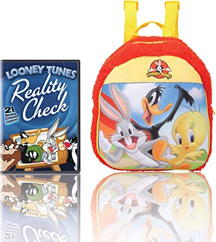 Warner Bros Looney Tunes Plush Bag (MBE-WB099) 100% Imported + Looney Tunes: Reality Check! (Fully Packaged Import) (DVD)