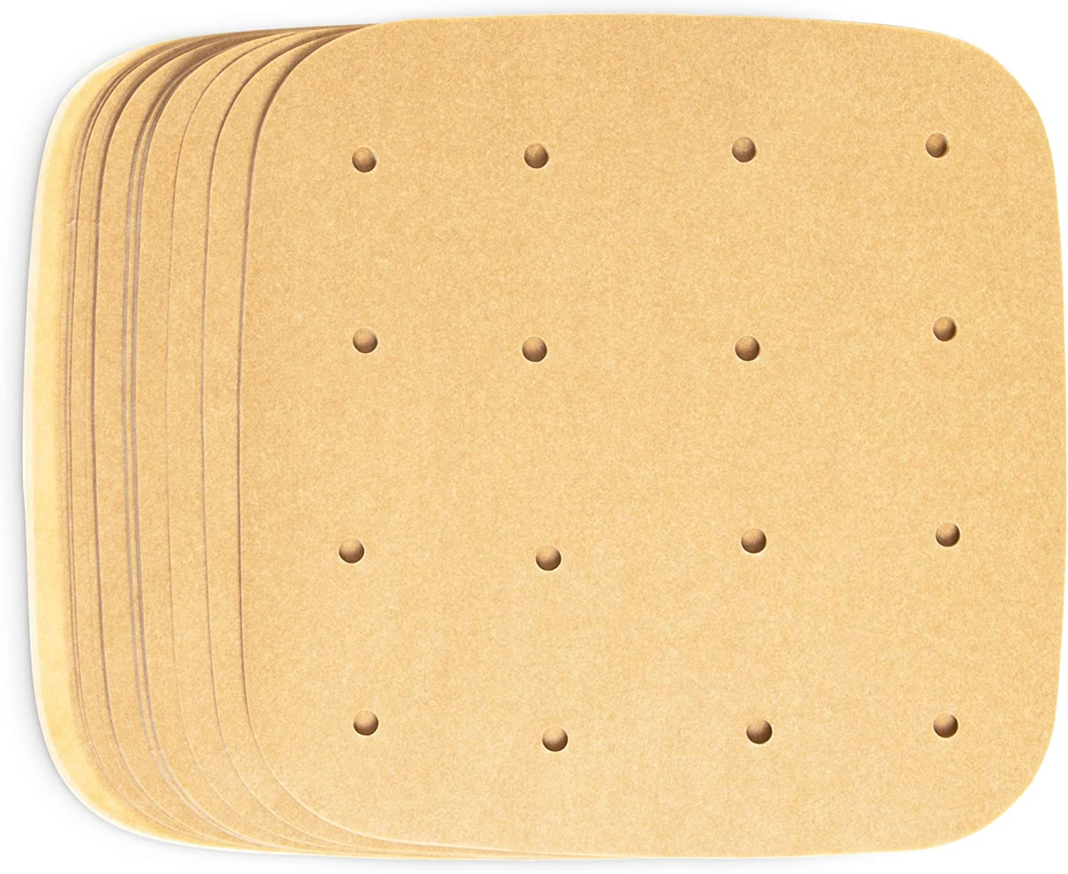 Air Fryer Liners, Unbleached Parchment Paper (6.5 x 6.5 In, 200 Pack)