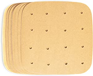 Air Fryer Liners, Unbleached Parchment Paper (7.5 x 7.5 In, 200 Pack)