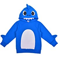 Nickelodeon Boy's Baby Shark Pullover Fashion Hoodie Jacket with 3D Fin