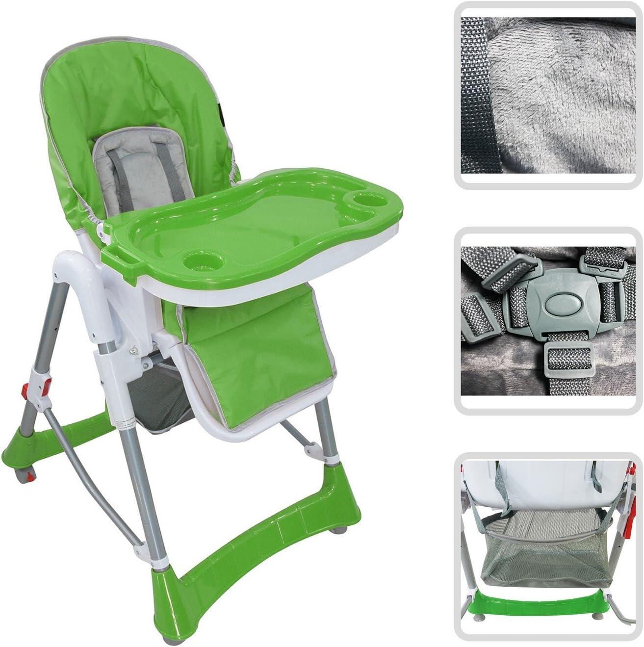 Baby-Klappstuhl Gr/ün Material: PVC Bereitgestellte Gr/ö/ße: 105 x 75 x 60 cm Todeco Baby-Hochstuhl