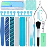EAONE 22 in 1 Nail Files and Buffers Set Professional Manicure Pedicure Tools Kit Nail Art Tool with Nail Files and…