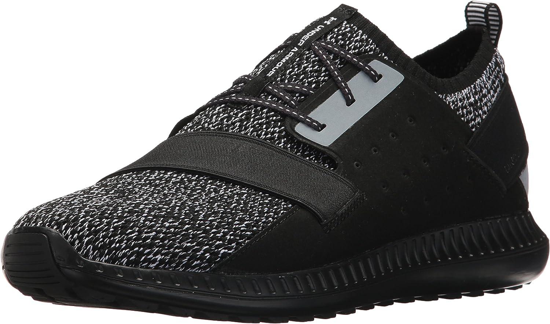 Under Armour Men's Threadborne Shift Heathered Sneaker, Midnight Navy (400)/Black
