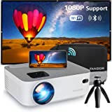 Mini WiFi Projector, FANGOR Full HD 1080P Supported Portable Video Projector Compatible with Bluetooth, TV Stick, HDMI, VGA,