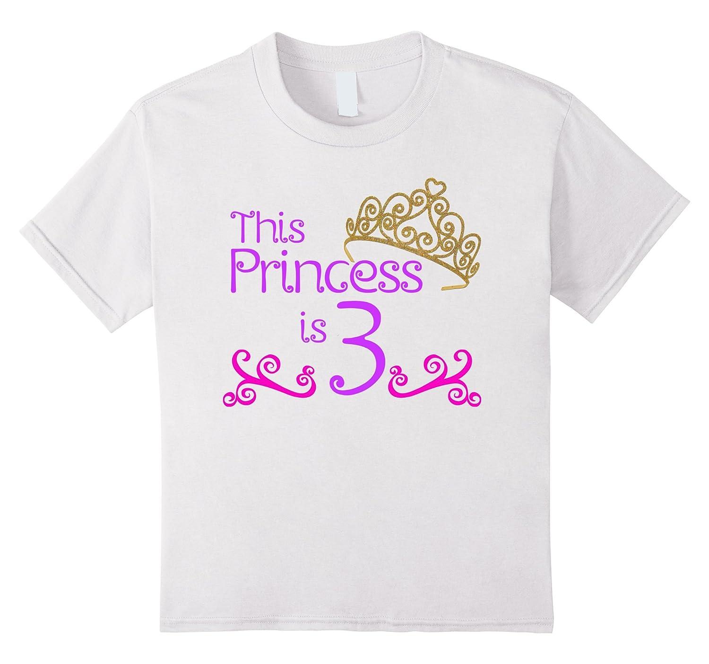 3rd Birthday T Shirt Girls White-Teeae
