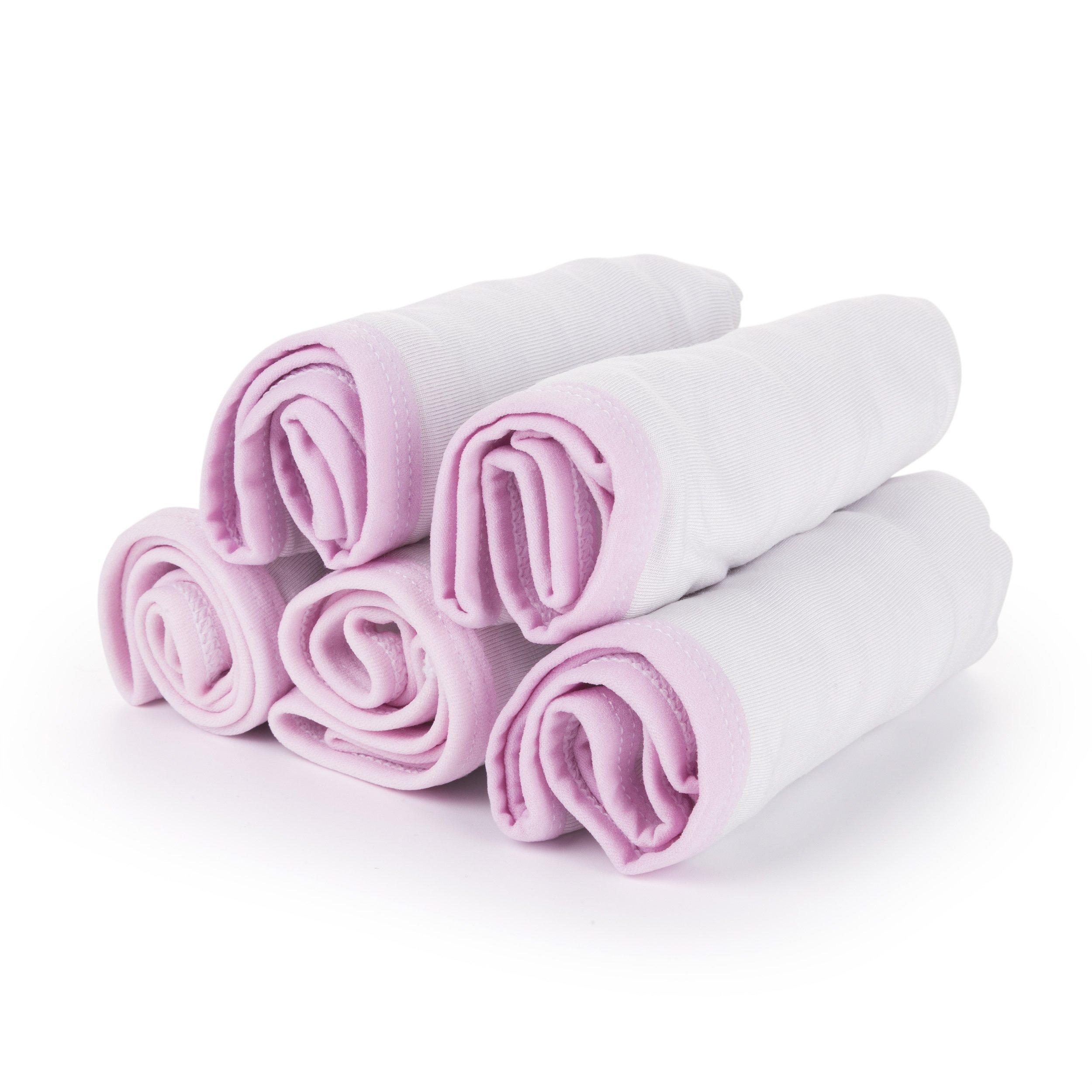 ChikaMika Women's Disposable Underwear 100% Cotton Underwear - for Travel- Hospital Stays- Spa 5-Pack (Medium 38.5-41.3 inch Hips)