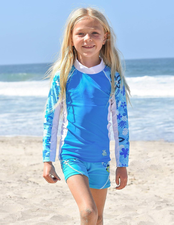 Ocean Tuga Girls Shoreline L//S Rash Guard UPF 50+ 11//12 yrs