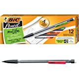 BIC Xtra-Life Mechanical Pencil, Clear Barrel, Medium Point (0.7mm), 12-Count