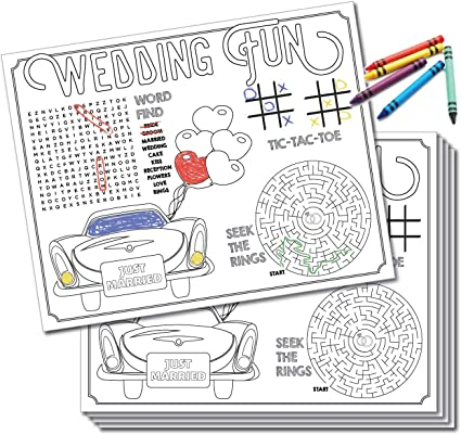 - Amazon.com: UP THE MOMENT Kids Wedding Activity Placemats - 24 Count, Wedding  Coloring For Kids, Kids Table Wedding Activities, Wedding Activities  Placemats, Kids Wedding Favors: Toys & Games