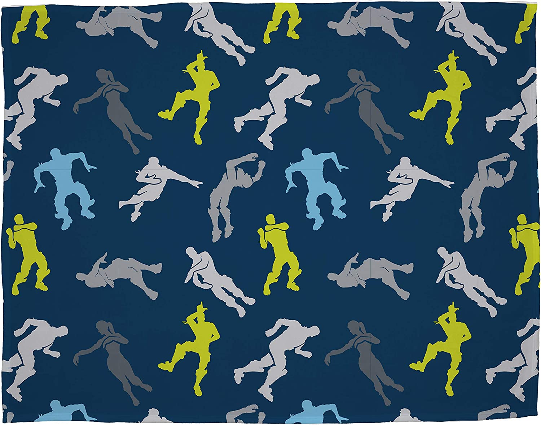 Official Fortnite Floss Fleece Blanket Throw Perfect For Any Bedroom Blue Dabs Design Super Soft Blanket