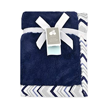 Just Born Plush Blanket, Navy