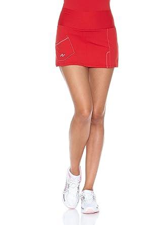 Naffta Falda Short Tenis/Padel Rojo/Blanco L: Amazon.es ...