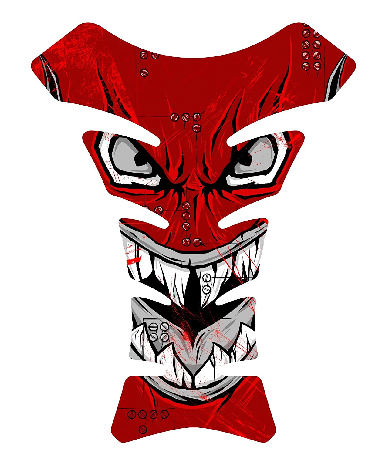Size is 8.5 in tall x 6.5 in wide Tiger Fighter Shark Front Red Gray World War 3d Gel Motorcycle Gas Tankpad Motorcycle TanK pad Decal Sticker