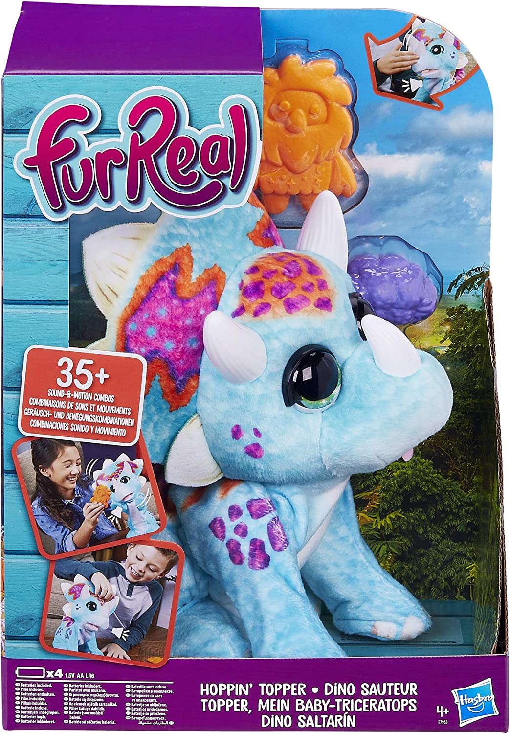 FURREAL Hoppin' Topper Interactive Plush Pet Toy, 35+ Sound-&-Motion Combinations, Ages 4 & up
