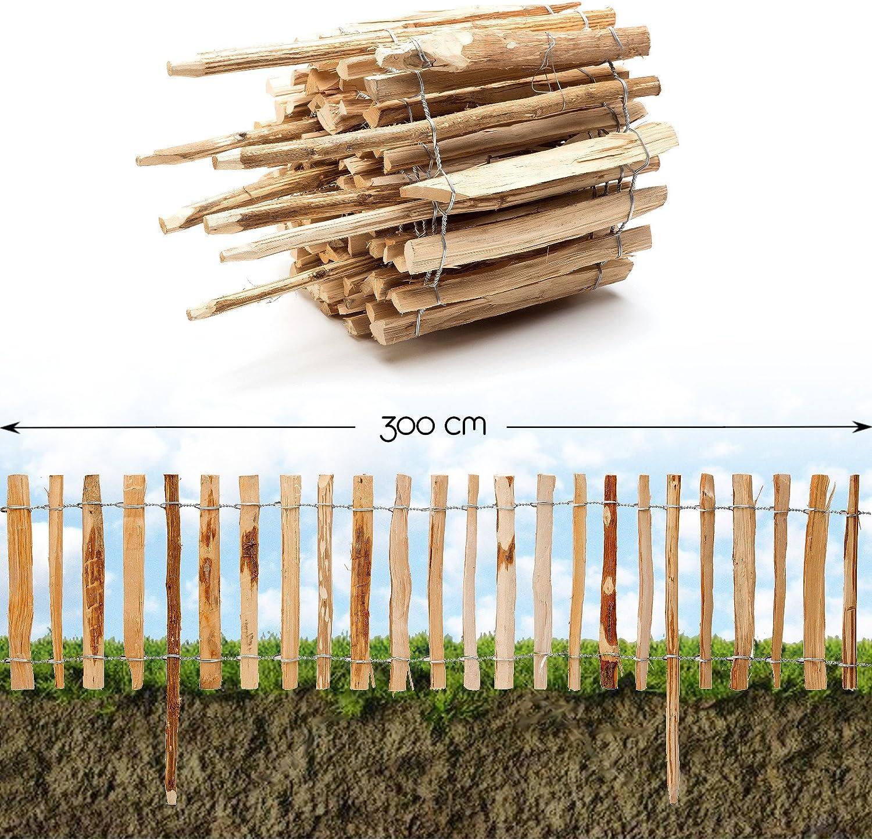 Valla para insertar en el suelo de madera de avellano, función de ...
