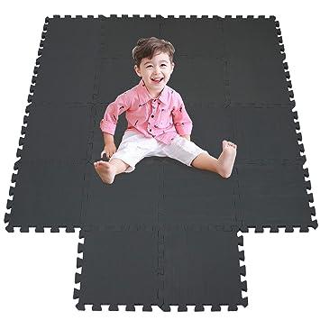 meiqicool Alfombrillas para Puzzles | Alfombra Puzzle para Niños Bebe Infantil Suelo de Goma EVA Suave 142 x 114 cm 18 Piezas