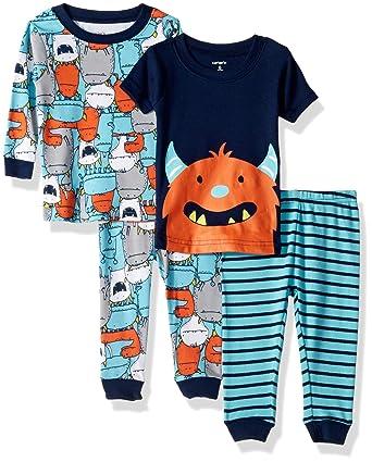 afe809ec8 Amazon.com  Carters Baby Boys  Sport Pajama 4-Piece Set (4)  Clothing